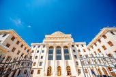 image of albania  - A huge neoclassical university building in Albania - JPG