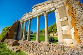 picture of albania  - Temple ruins in Ancient Apollonia in Albania - JPG