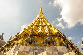 stock photo of emerald  - Pagoda in Temple of the Emerald Buddha or Grand palace - JPG