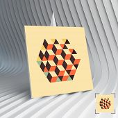 picture of hexagon  - Business card - JPG