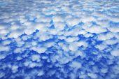 stock photo of cumulus-clouds  - landscape beautiful cumulus clouds against a blue sky on a sunny day - JPG