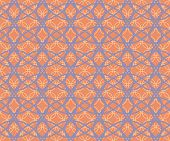 foto of intersection  - Abstract seamless fabric retro pattern of intersecting hoops - JPG