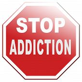 stock photo of addict  - stop addiction prevention and rehabilitation of alcohol drug pain killer and other addicts - JPG