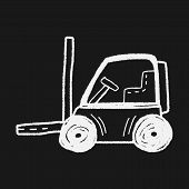 stock photo of hand truck  - Truck Doodle - JPG