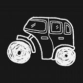 picture of hand truck  - Truck Doodle - JPG