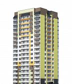 picture of high-rise  - High rise building on isolated white background - JPG