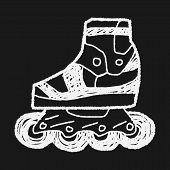 foto of roller-derby  - Roller Skate Doodle - JPG