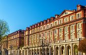 stock photo of turin  - Historic buildings on Piazza Statuto in Turin  - JPG