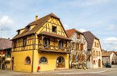 stock photo of alsatian  - Traditional Alsatian houses in Bergheim  - JPG