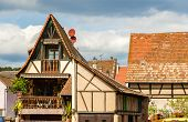 picture of alsatian  - Traditional Alsatian house in Bergheim  - JPG