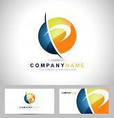 pic of letter p  - Letter P logo design - JPG