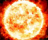picture of birth  - Background modern texture triangle geometry Sun star birth of galaxy - JPG