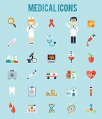 picture of microscopes  - Set of medical icons - JPG