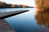 image of extend  - A wooden dock extends serenely out into Atlanta - JPG