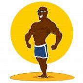 pic of jock  - muscular man posing - JPG