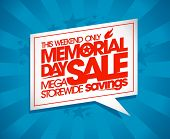 foto of memorial  - Memorial day sale design with speech bubble and rays - JPG