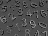 stock photo of zero  - Background of numbers - JPG