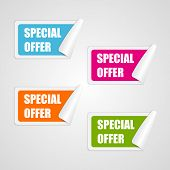 picture of squares  - Set colorful square special offer stickers - JPG