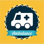 picture of ambulance  - ambulance catoon with silhouette icons - JPG