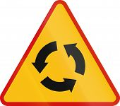 picture of intersection  - Polish traffic warning sign - JPG