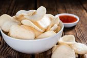 picture of chinese crackers  - Fresh made Prawn Crackers  - JPG