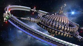 image of spaceships  - Alien spaceship - JPG