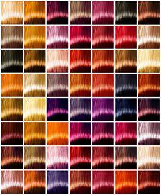 image of hair dye  - Hair Colors palette - JPG