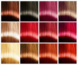 picture of hair dye  - Hair Colors palette - JPG