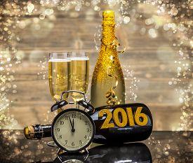 stock photo of celebrate  - 2016 New Years Eve celebration background - JPG