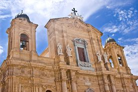 pic of marsala  - Facade of Cathedral of Marsala Sicily in Italy - JPG