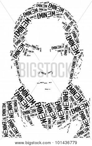 A Word Cloud Portrait Illustration