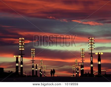poster of Evening Sky And City Lights