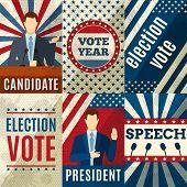 Постер, плакат: Vintage Politics Posters