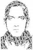 Постер, плакат: A Word Cloud Portrait Illustration Of Eminem