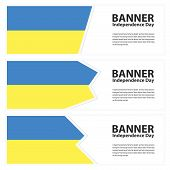 Постер, плакат: Ukraine Flag Banners Collection Independence Day