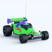 Постер, плакат: Toy car racing