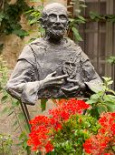 Постер, плакат: Monument To Blessed Charles De Foucauld Eugene 1858 1916 Near The Chapel Hermitage Where He Staye