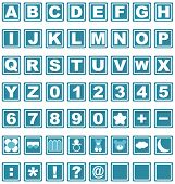 Alphabet - Caps numeric and symbols