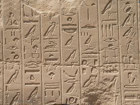 pic of hieroglyphic  - old egypt hieroglyphs carved on the stone - JPG