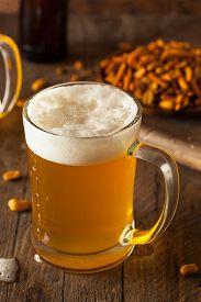 pic of stein  - Golden Beer in a Glass Stein for Oktoberfest - JPG