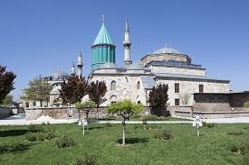 foto of sufi  - Mevlana Museum - museum of the famous Sufi poet Rumi in the Turkish city of Konya.  ** Note: Visible grain at 100%, best at smaller sizes - JPG