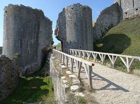 pic of stockade  - Corfe Castle photographed at Corfe Castle in Dorset - JPG