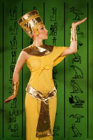 pic of cleopatra  - Portrait of beautiful egyptian woman stylized into Cleopatra - JPG