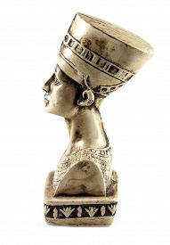 picture of nefertiti  - Famous bust of Queen Nefertiti isolated on white - JPG