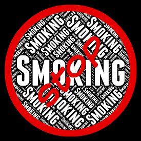 picture of smoke  - Stop Smoking Meaning Warning Sign And Smoke - JPG
