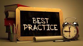 picture of chalkboard  - Handwritten Best Practice on a Chalkboard - JPG