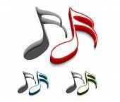 stock photo of beep  - 3d vector music web icons design element - JPG