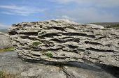 stock photo of errat  - Limestone Glacial Erratic boulder on The Burren - JPG