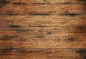 Old Aged Brown Wooden Planks Background Texture poster