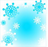picture of snow border  - snowflake border - JPG